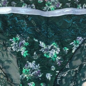 Adore Me Intimates & Sleepwear - Adore me green sheer and lace panty 2XL